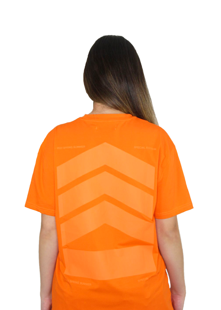 Essentials Woman's Logo stretch-cotton T-shirt - Orange