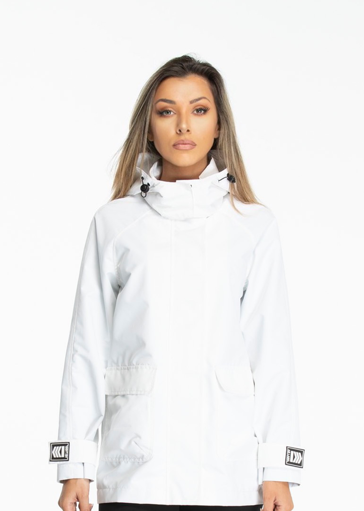 Essentials Jacket Logo on sleeves  -  White
