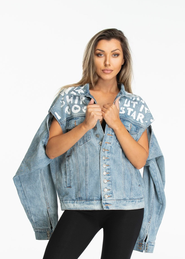Essentials Denim multi-wear denim Jacket - Light Blue