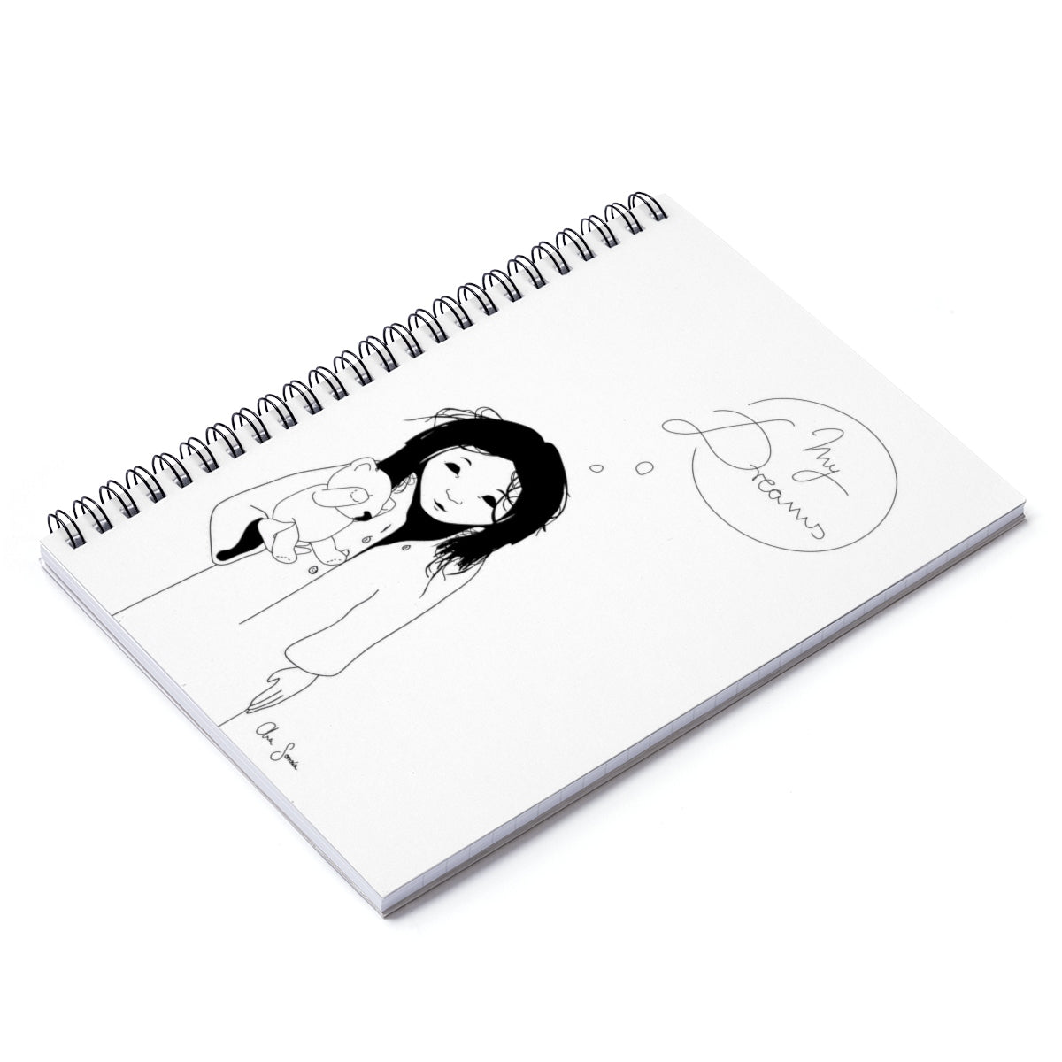 Spiral Notebook - Ruled Line - White