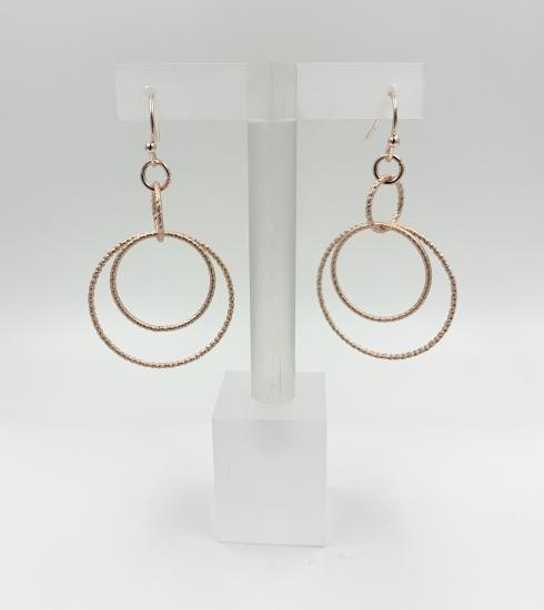 Mia Tui Rose Gold Multi Circle Earrings - with Gift Bag