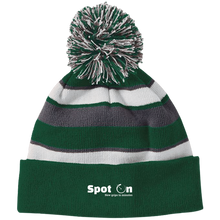 Load image into Gallery viewer, Spot On Striped Beanie with Pom