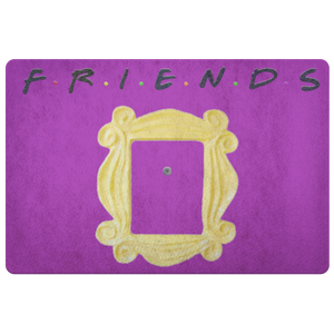 "Friends ""Peep Hole Frame"" Door Mat"