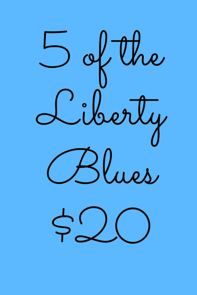 5 Pack Liberty Notecards in Blue