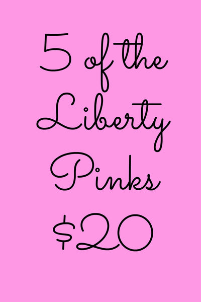 5 Pack Liberty Notecards in Pink