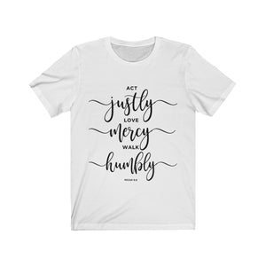 ACT JUSTLY Jersey Short Sleeve Tee