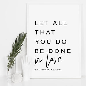 BE DONE IN LOVE Wall Art Canvas