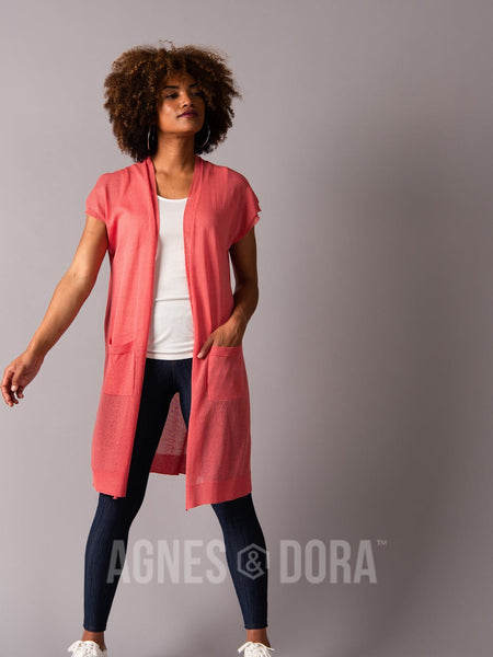 Agnes & Dora™ Sheer Duster Spiced Coral