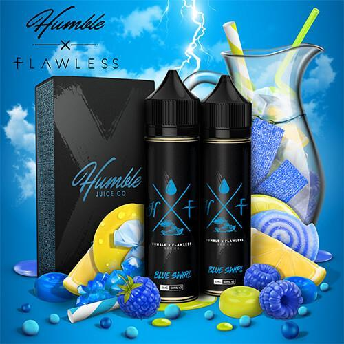 Humble x Flawless Collaboration - Blue Swirl