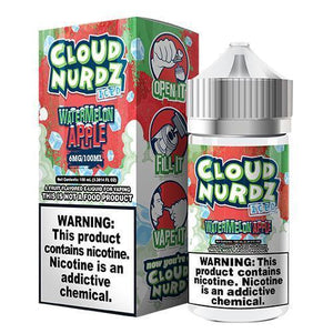 Cloud Nurdz eJuice Iced - Watermelon Apple Iced