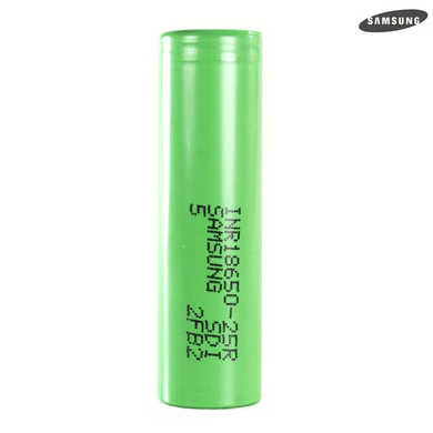 Samsung 25r Green 18650 Battery