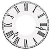 Sweety Crazy Lens - White Roman Clock