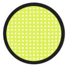 Load image into Gallery viewer, Sweety Crazy Lens - Yellow Mesh/Screen Black Rim