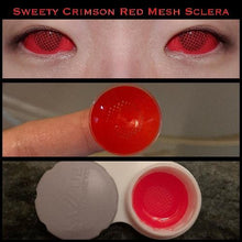 Load image into Gallery viewer, Sweety Crimson Red Mesh Sclera