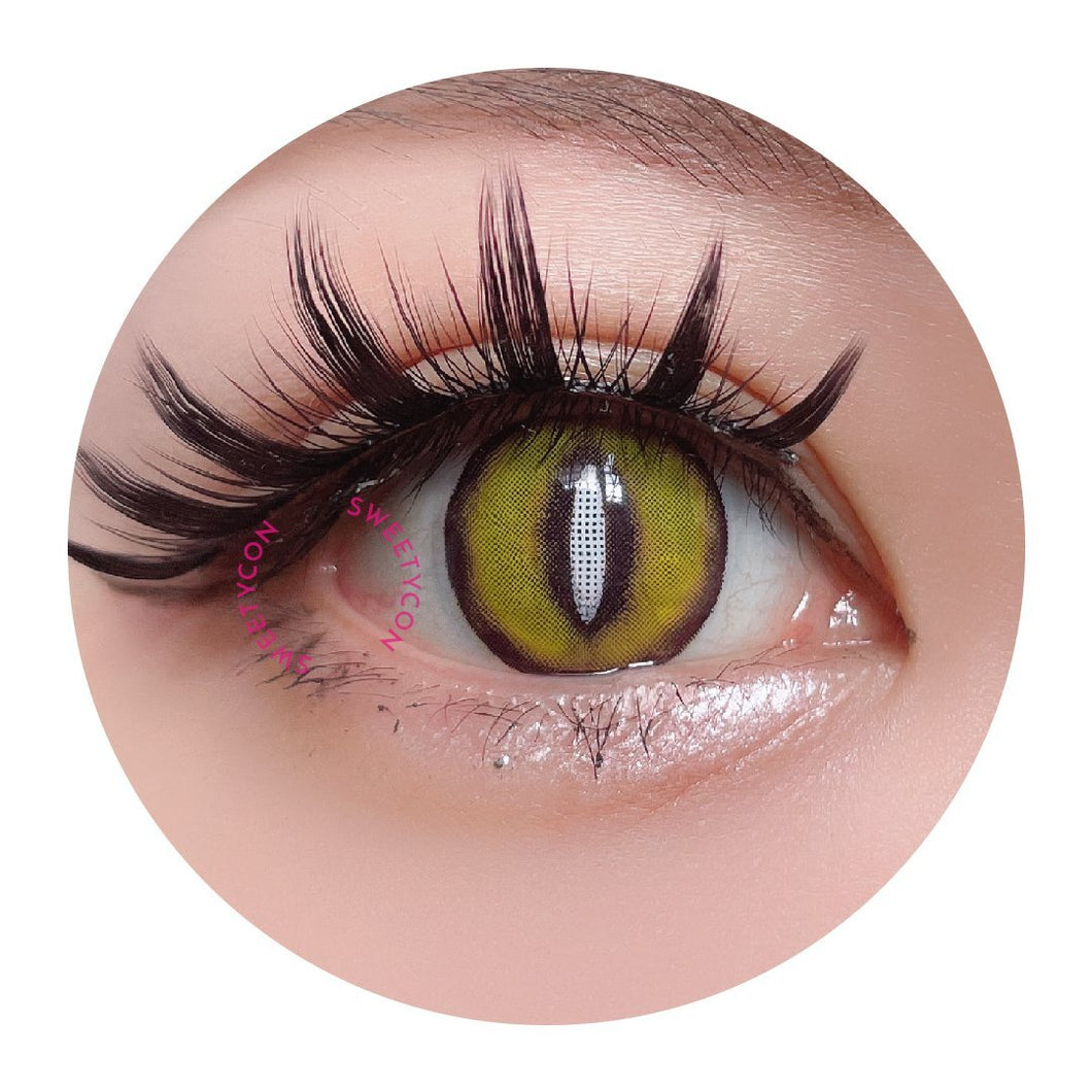 Sweety Crazy Lens Yellow Demon Eye White Slit