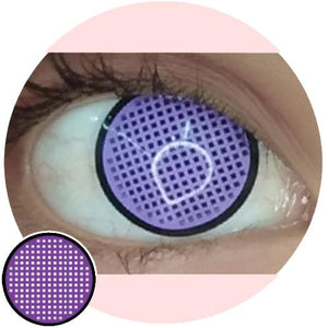 Sweety Crazy Lens - Violet Mesh with Black Rim