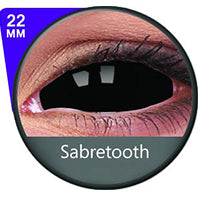 Load image into Gallery viewer, Sweety Black Sclera Lens Sabretooth/Blackout/Black With Prescription-UNIQSO Express