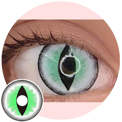 Sweety Crazy Lens - Sexy Cat Eye Green