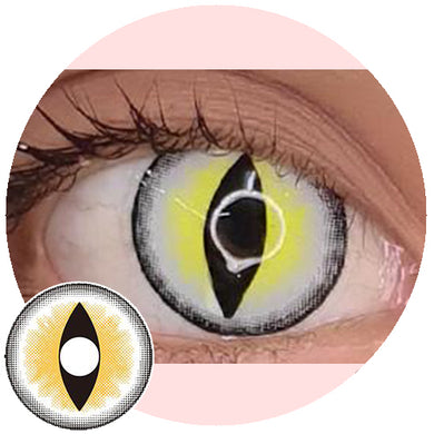 Sweety Crazy Lens - Sexy Cat Eye Yellow