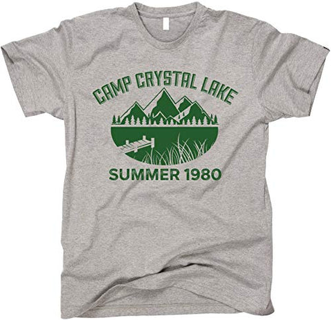 GunShowTees Men's Camp Crystal Lake Funny Halloween Shirt