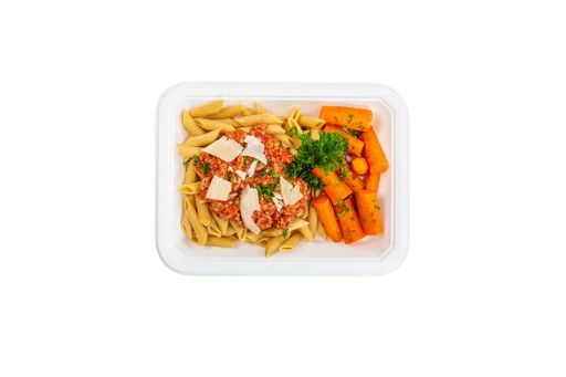 Turkey Bolognese w Penne and Carrots