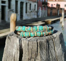 Load image into Gallery viewer, BRACELET TURQUOISE DOUBLE: original Murano glass - Murano Glass