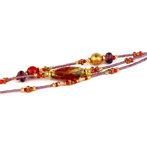 AMY GOLD Bracelet - Murano glass with gold leaf - Murano Glass