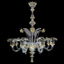 Load image into Gallery viewer, ELEGANTE - Luxurious Crystal Chandelier with 6 lamps - Murano glass - Murano Glass