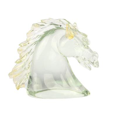 HORSE HEAD - Murano glass Sculpture with Gold - Murano Glass