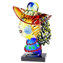 Load image into Gallery viewer, MADAM HOMAIS - Tribute to Picasso Head Style Sculpture - Murano glass - Murano Glass