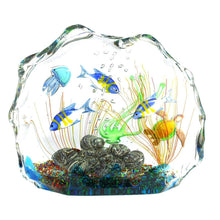 Load image into Gallery viewer, AQUARIUM - Murano glass Sculpture with tropical fish - Murano Glass