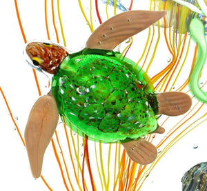 AQUARIUM - Murano glass Sculpture with tropical fish - Murano Glass