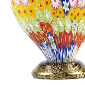 BABA Colourful Murrine Murano glass vase - Murano Glass