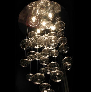 Modern Murano Bubble Glass Chandelier in Murano Glass Art Style