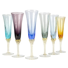 Load image into Gallery viewer, JOY - Champagne glass set 6psc - Murano glass - Murano Glass