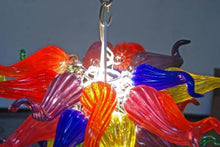 Load image into Gallery viewer, Coloured Modern Abstract Chandelier in Murano Glass Art Style