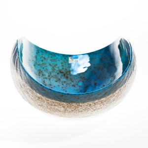 DINDINI turquoise decor bowl - Murano glass - Murano Glass