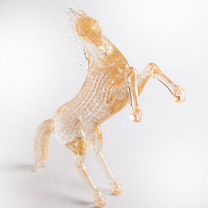 SPARKLE - gold leaf horse sculpture of Murano glass - Murano Glass
