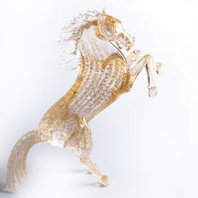 Load image into Gallery viewer, SPARKLE - gold leaf horse sculpture of Murano glass - Murano Glass