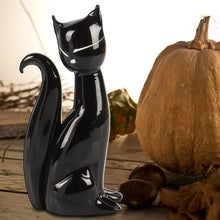 Load image into Gallery viewer, FELES - black glass cat Murano glass sculpture - Murano Glass