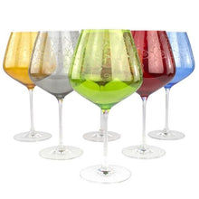 Load image into Gallery viewer, GRAN RESERVA - set of colourful wine glasses 6 psc - Murano glass - Murano Glass