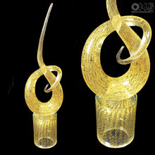 Load image into Gallery viewer, LOVE KNOT - Luxurious Murano glass sculpture with 24kt gold - Murano Glass