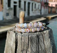 Load image into Gallery viewer, BRACELET MARBLE DOUBLE: Original Murano glass - Murano Glass