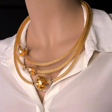 Load image into Gallery viewer, MONIQUE - Gold Elegant Murano glass necklace - Murano Glass