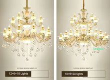 Load image into Gallery viewer, Luxury Nordic Crystal Chandelier - Murano Glass Art Style