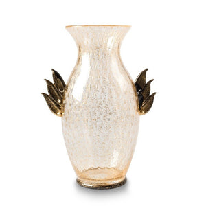 PEGASUS Black and gold Murano glass vase - Murano Glass