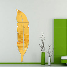 Load image into Gallery viewer, Decorative Mirrors - 3D Feather Mirror Wall Sticker - Home Decoration Home Decor
