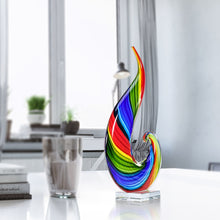 Load image into Gallery viewer, Rainbow Glass Sculpture Hand Blown Glass. Murano Glass Art Style