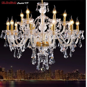 Luxurious Nordic Crystal Chandelier - Murano Glass Art Style