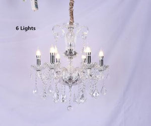 Luxurious long Crystal Chandelier - Murano Glass Art Style